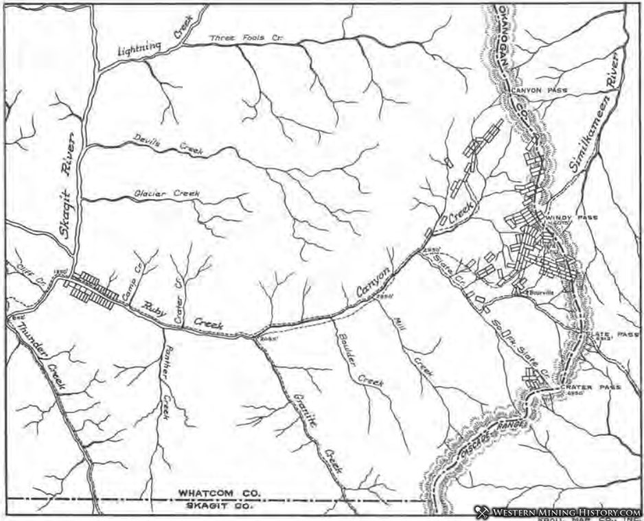 Claim map of the Slate Creek district in 1899
