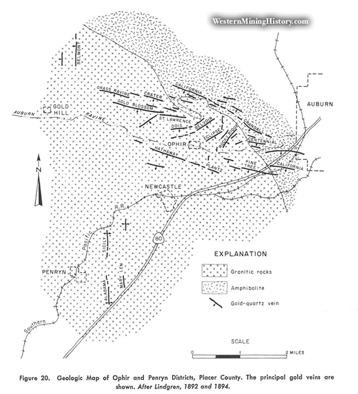 Geologic Map of Ophir and Penryn Districts