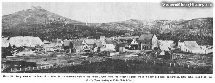 Early view of the town of St. Louis, California