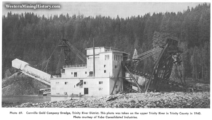 Carrville Gold Company dredge, Trinity County