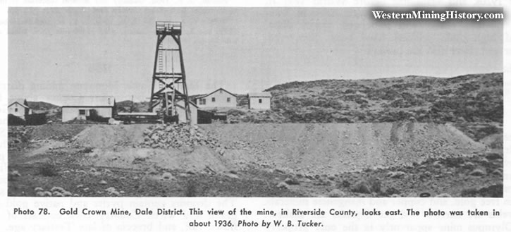 Gold Crown Mine, Dale District