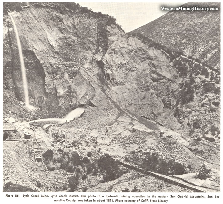 Lytle Creek Mine, Lytle Creek District