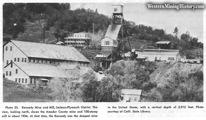 Kennedy Mine, Jackson-Plymouth District