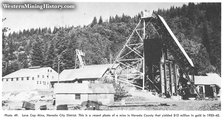 Lava Cap Mine, Nevada City District