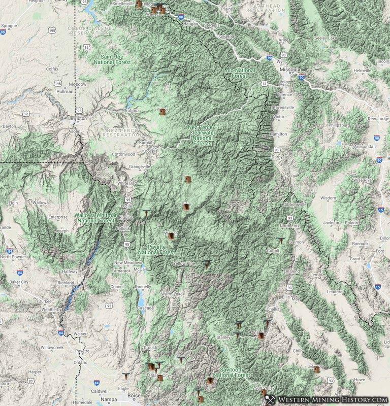 Idaho mining towns