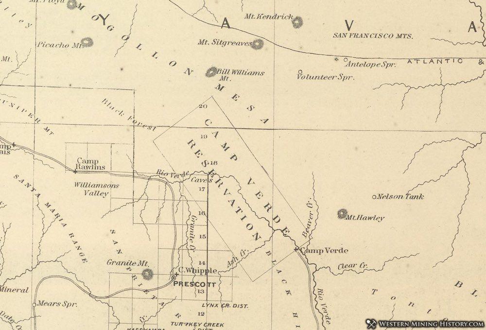 Map Of Arizona Including Jerome.Jerome Arizona