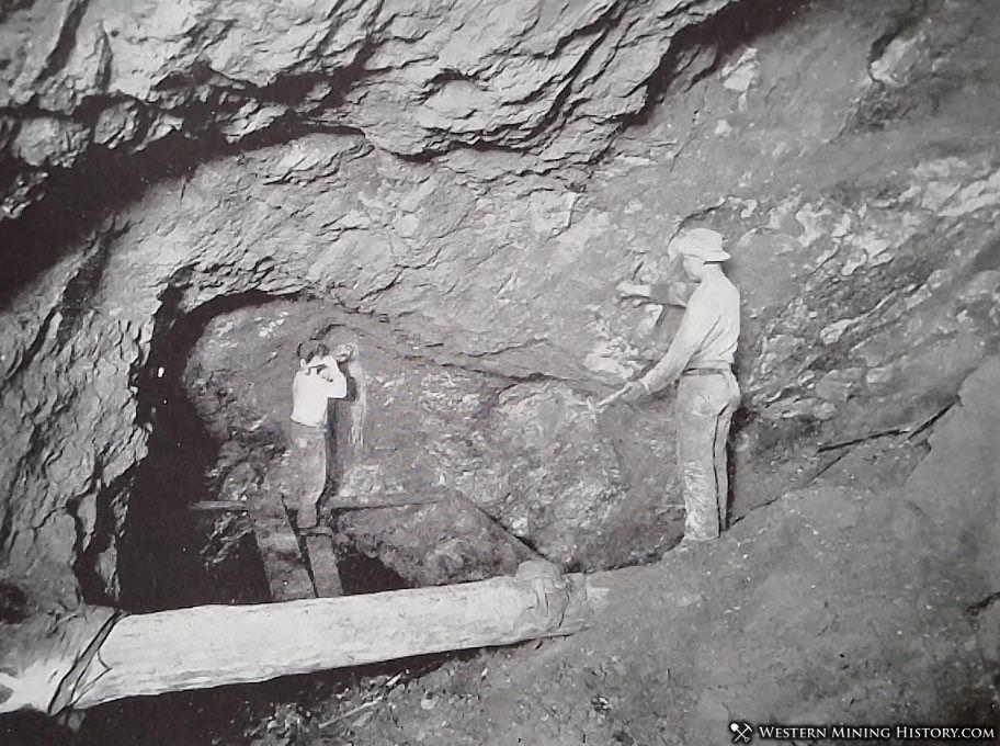 Inside the Elkhorn Mine ca. 1900