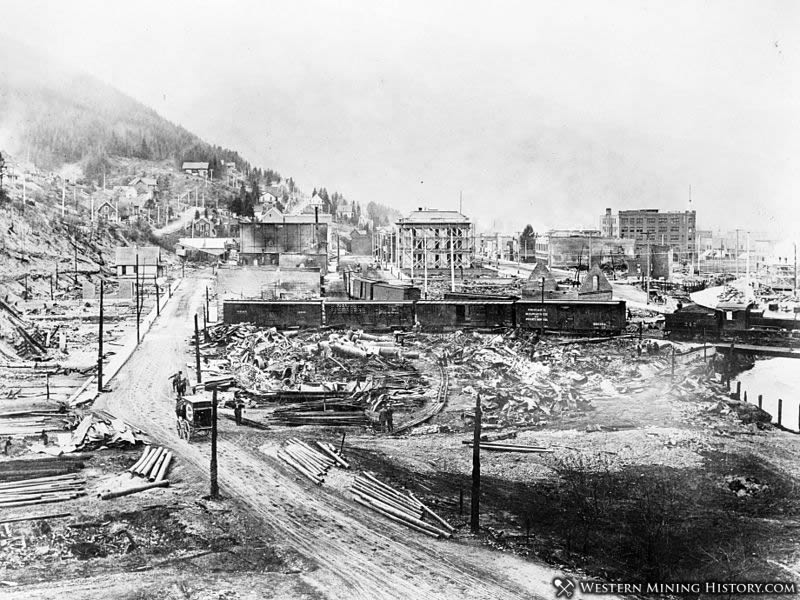 Wallace after the 1910 fire