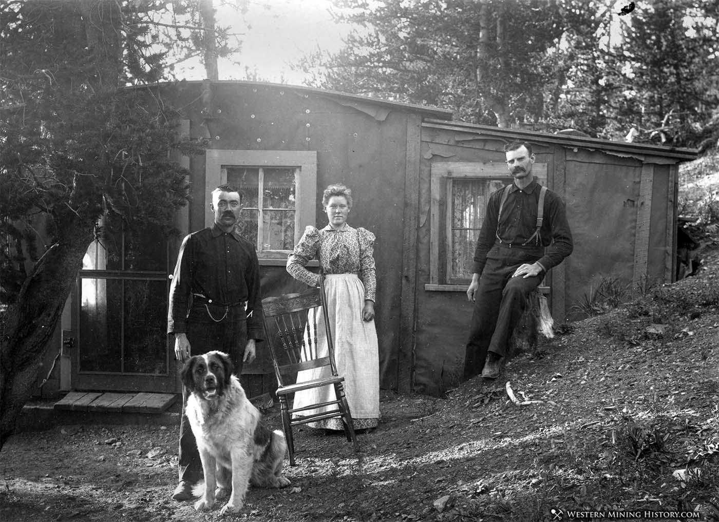 Dog poses at Tom Ellis' home near Altman Colorado