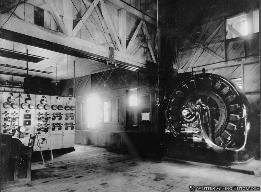 Interior of the Ames Power Plant 1895