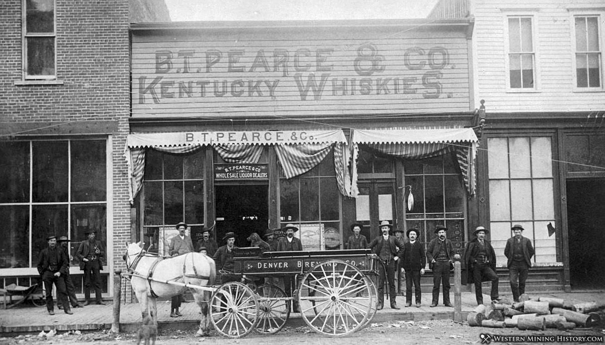 B.T. Pearce & Co. Kentucky Whiskies - Aspen, Colorado 1880s