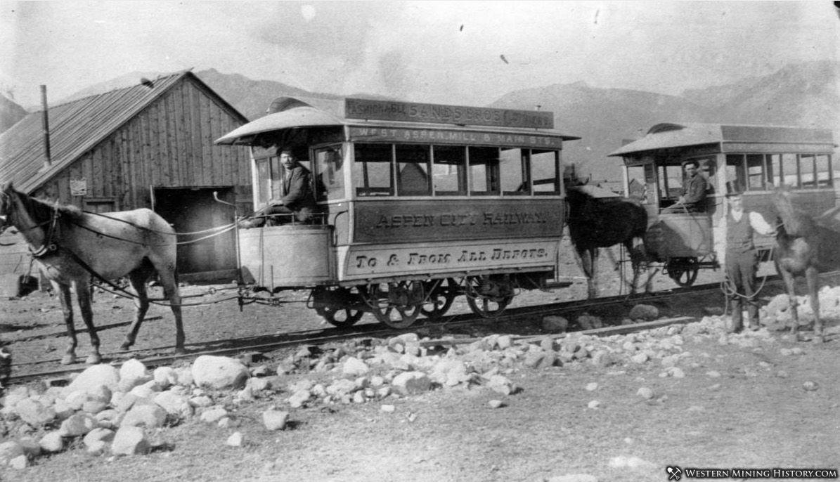 Aspen City Railway - Aspen Colorado 1880s