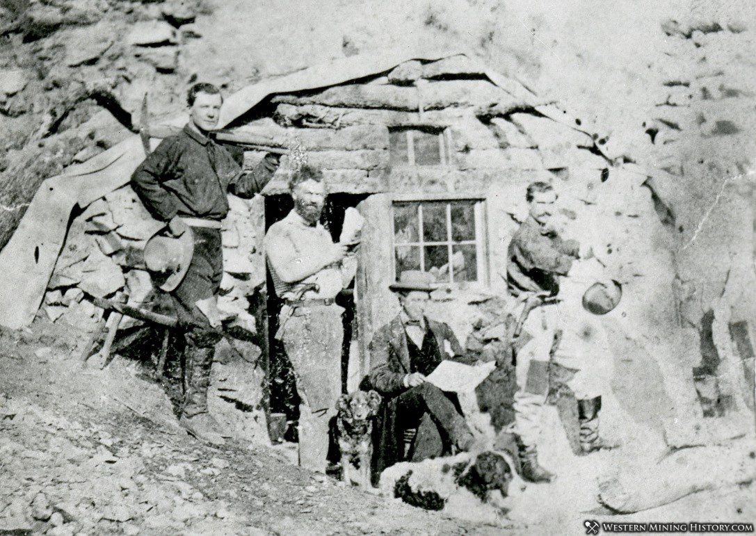 Samuel Clemens Friend Robert F. Howland at Aurora cabin in 1862