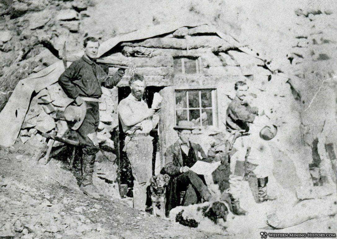 Samuel Clemens Friend Robert F. Howland at Aurora cabin in 1862