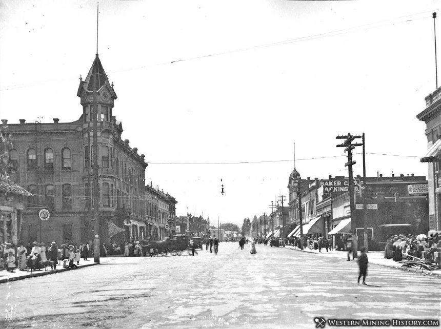 View of Main Street - Baker City, Oregon ca. 1910