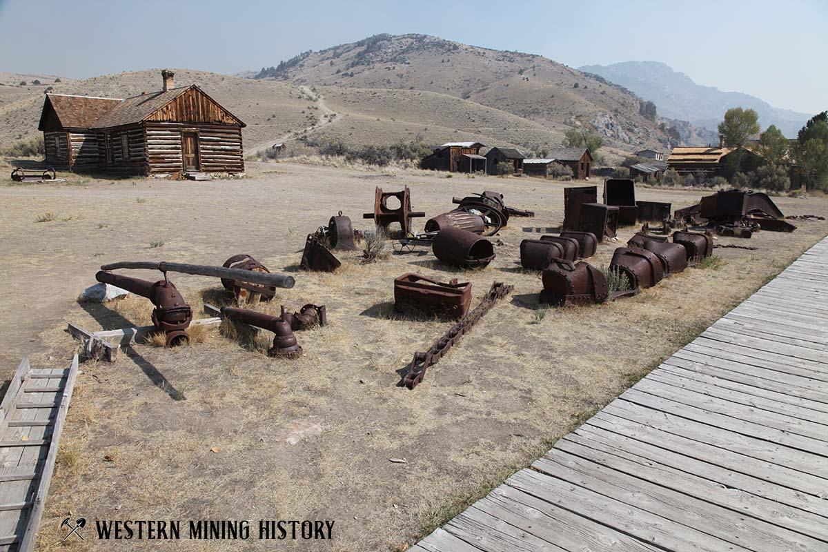 Antique mining equipment at Bannack State Park