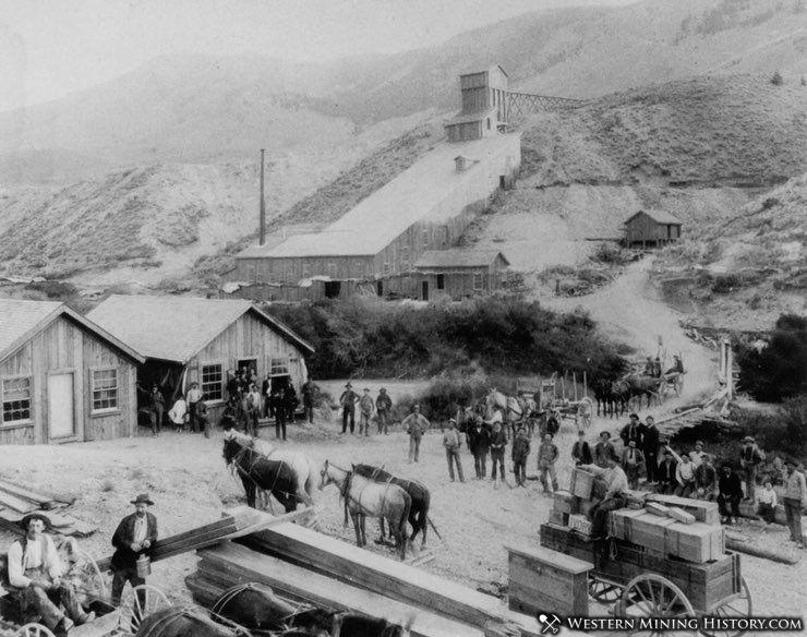 Golden Leaf Mill near Bannack ca. 1890