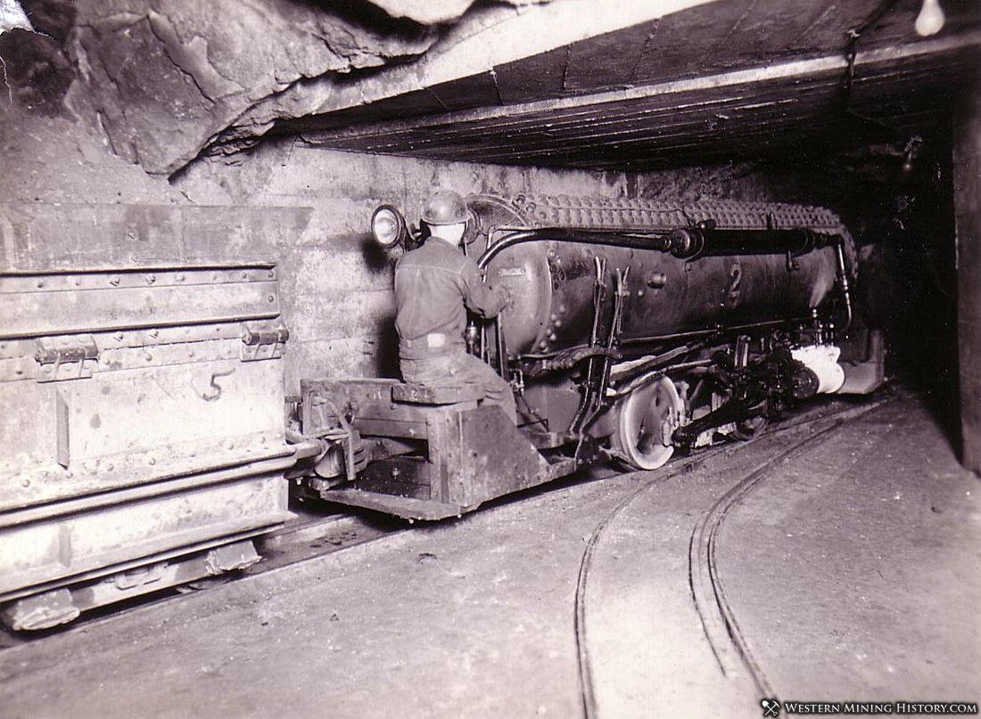 US Mine air locomotive - Bingham Utah ca. 1930