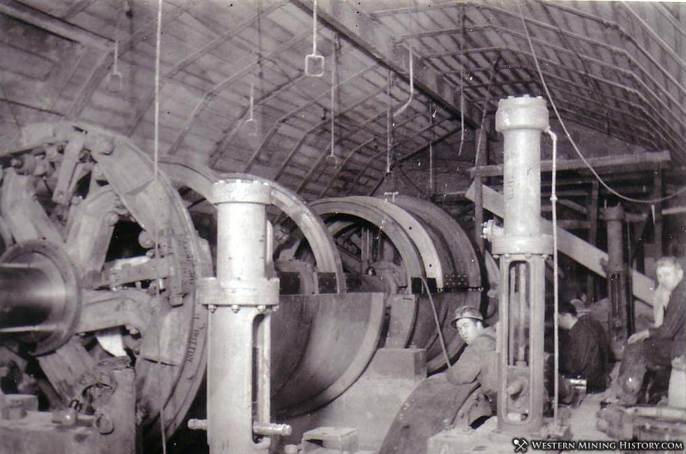 US mine new hoist motors being installed - Bingham Utah ca. 1930