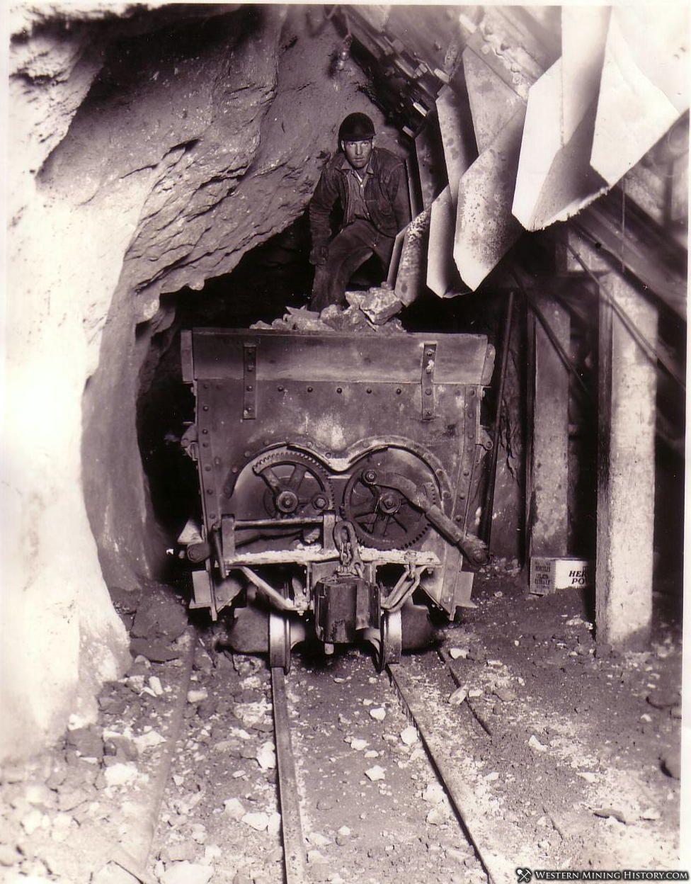 US mine loading cars - Bingham Utah ca. 1930