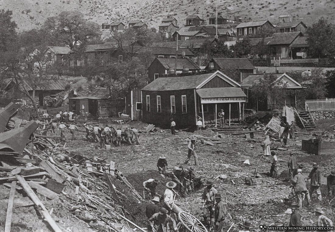 Bisbee residents clean up after the flood of July 1890