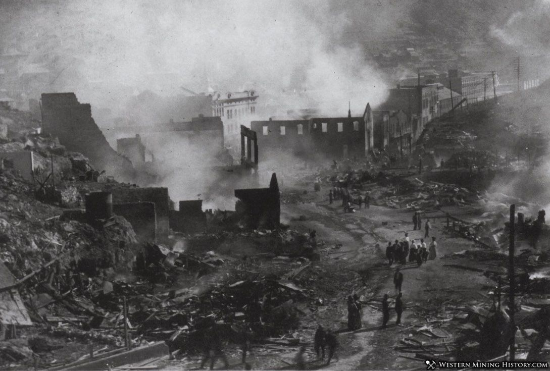 Aftermath of the 1908 Bisbee fire