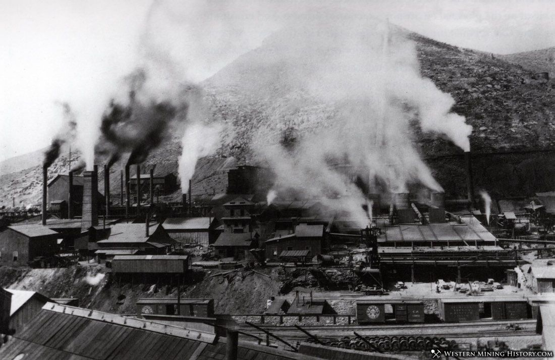 View of Bisbee Smelters ca. 1900