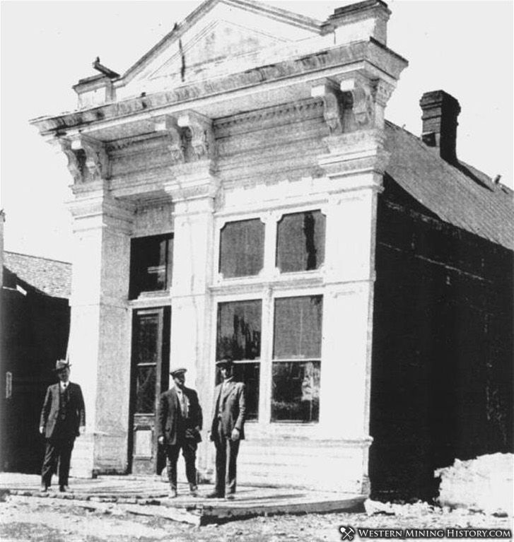 Bodie Bank prior to the 1932 fire