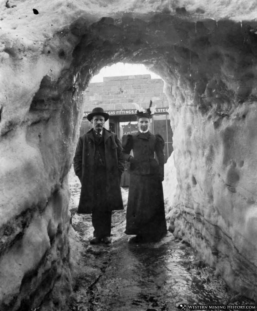 Snow Tunnel at Breckenridge during the big winter of 1898-99