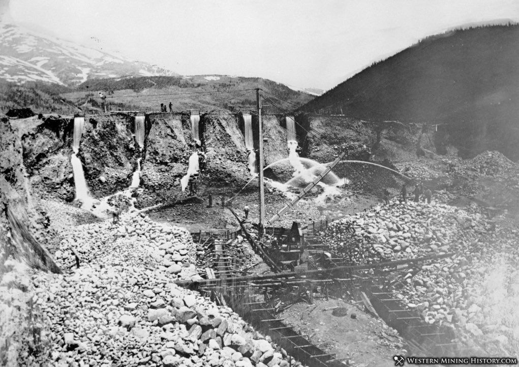Early placer mining operation at Breckenredige Colorado