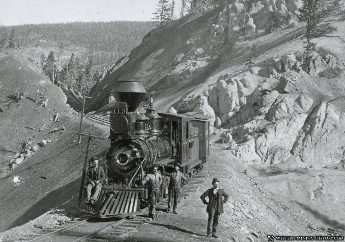 Railroad locomotive at Rocky Cut near Breckenridge