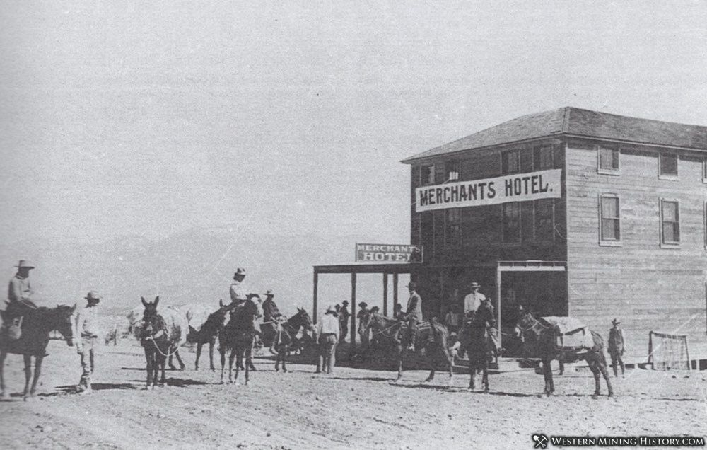 Merchants Hotel at Bullfrog, Nevada ca. 1905