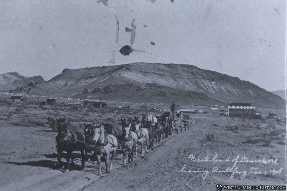 Freight team leaving Bullfrog, Nevada - December 1, 1905