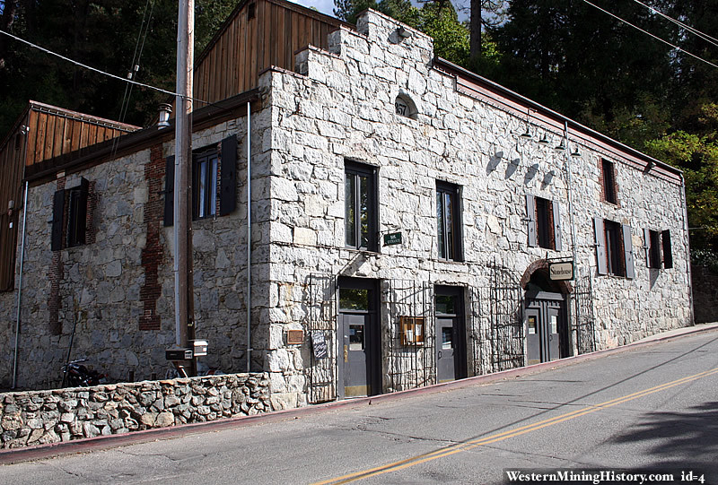 The historic Nevada Brewery building in Nevada City