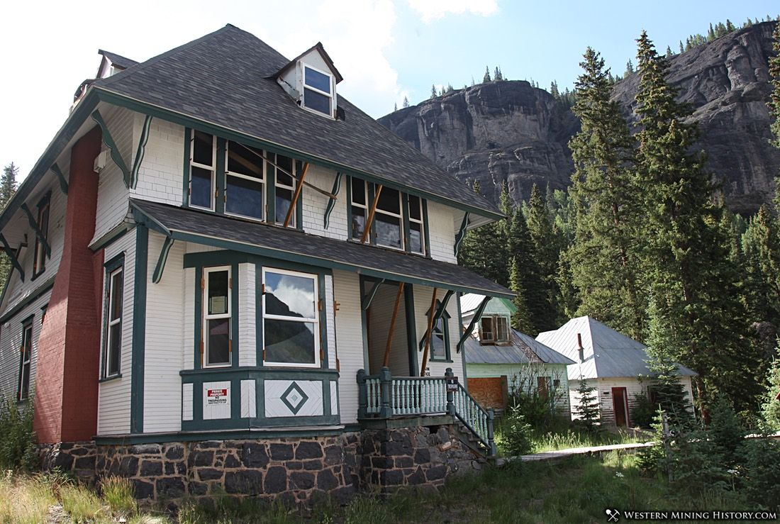 A few historic homes remain at the Camp Bird mine