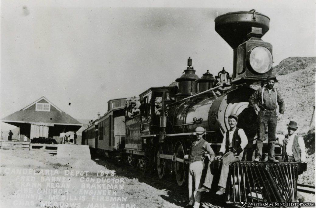 Candelaria railroad depot 1898