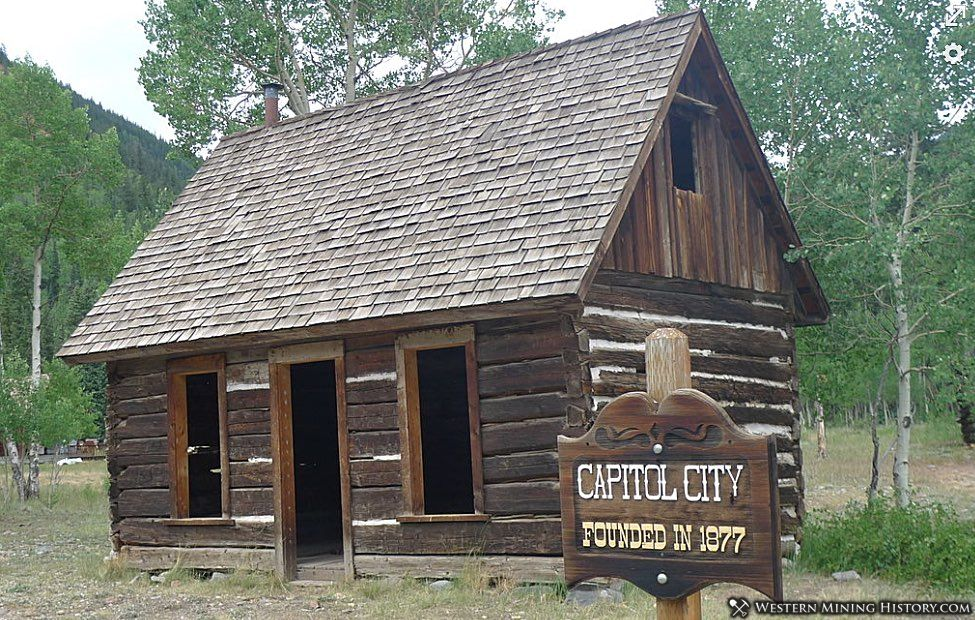 The old post office at Capitol City, Colorado