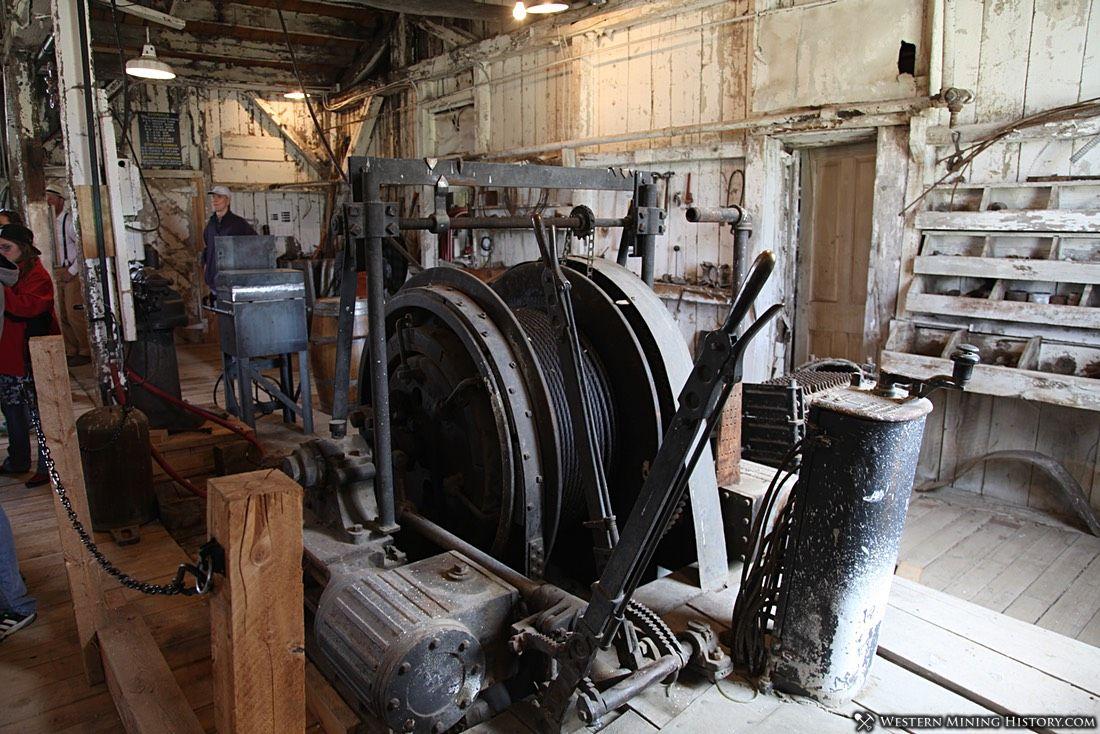 Hoist at the Carissa mine