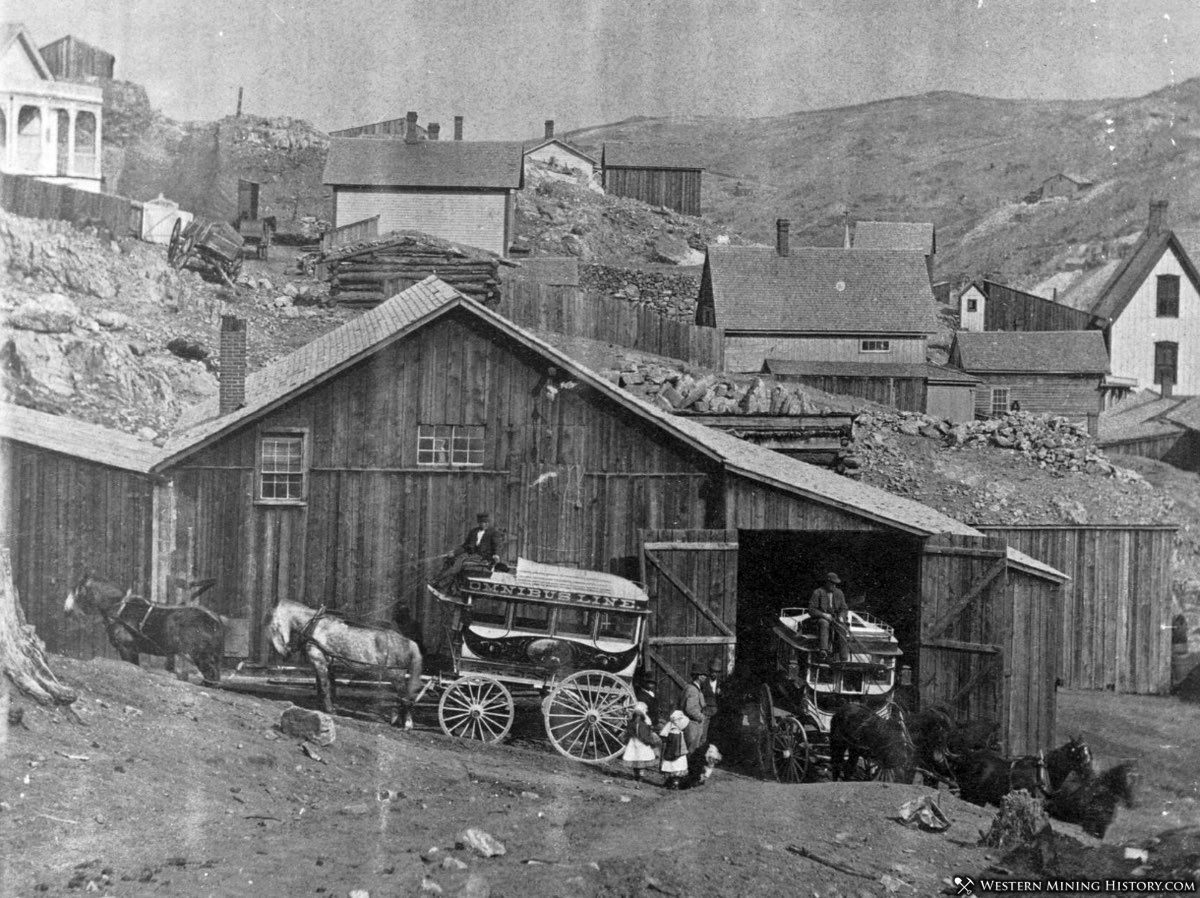 Stagecoaches at Central City, Colorado 1875
