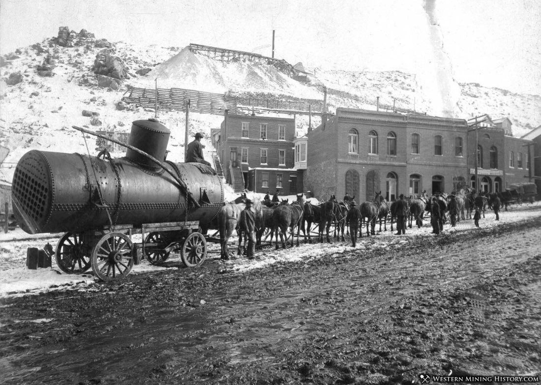 Boiler being transported at Central City Colorado