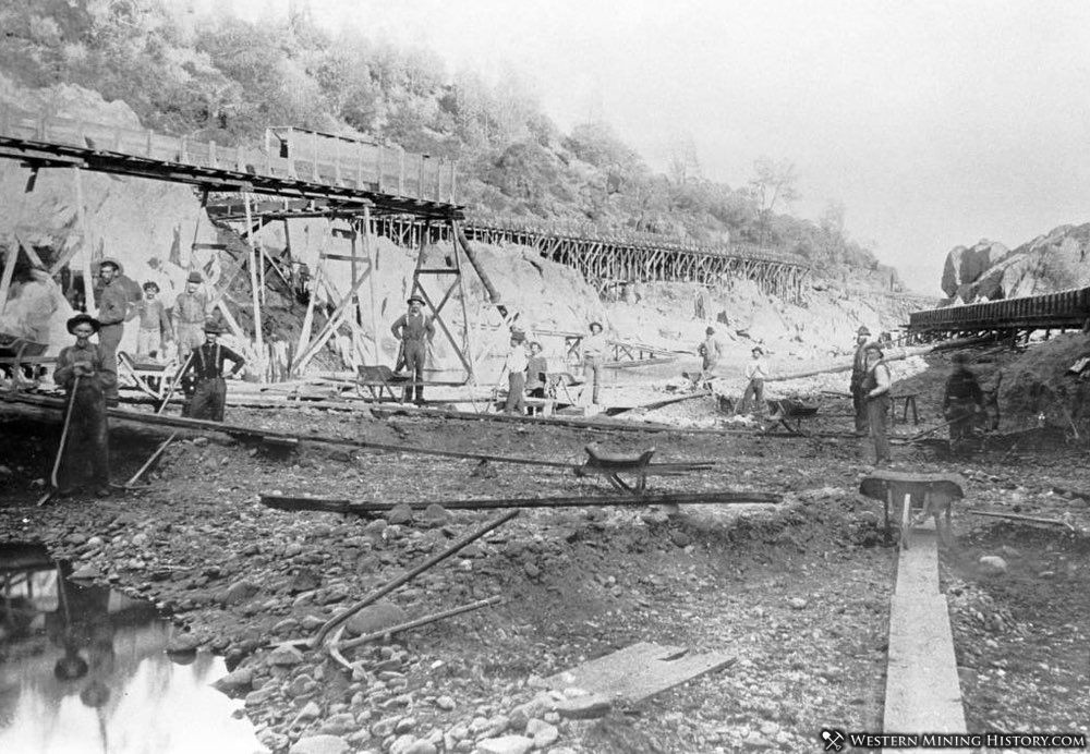 Spring Valley mine at Cherokee California ca. 1870