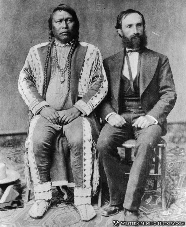 Chief Ouray and Otto Mears pose for this 1880 photograph