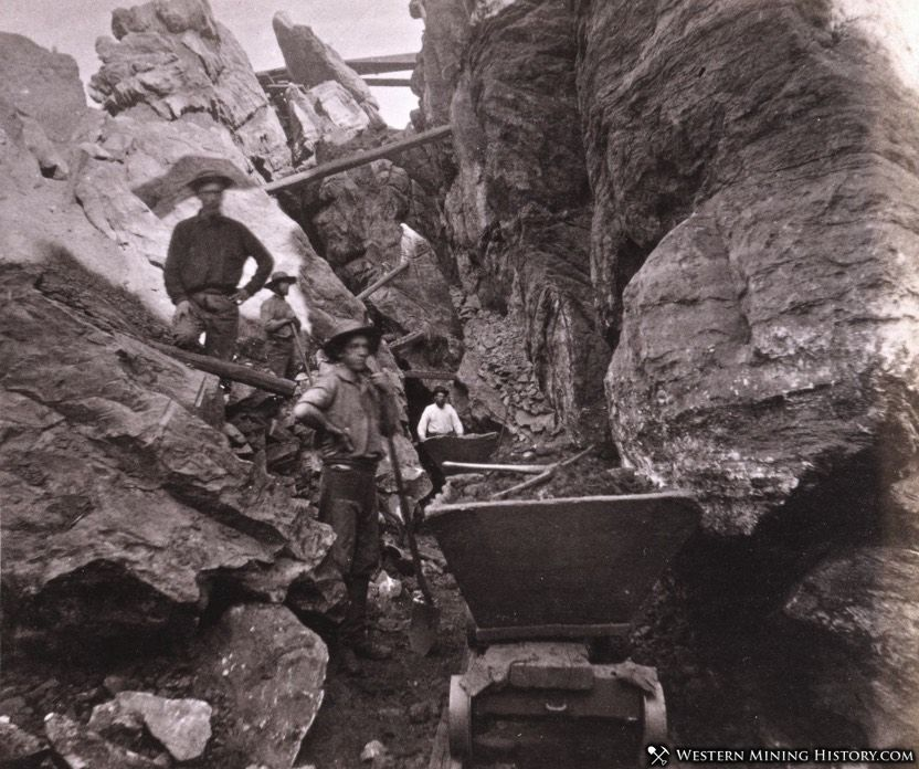 Placer mining operation - Columbia, California 1860s