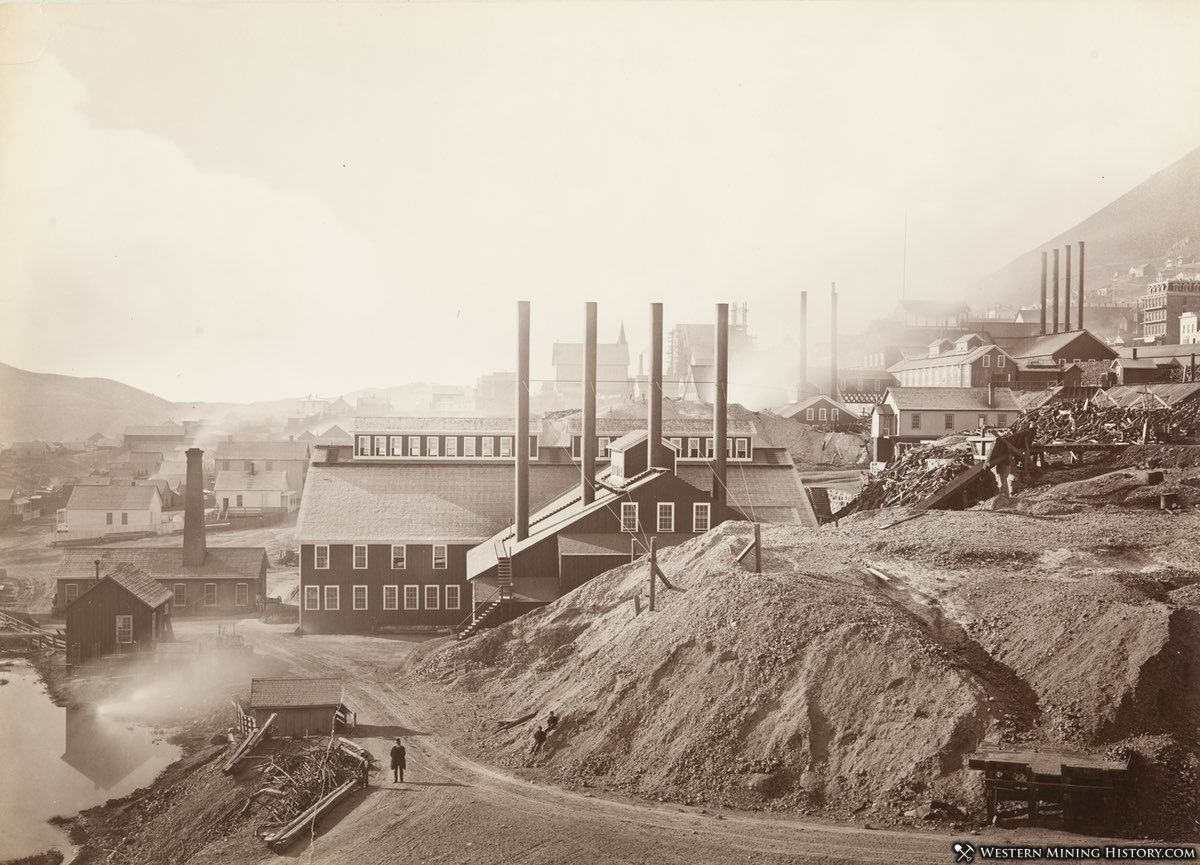 Consolidated Virginia Mill and Hoisting Works, Virginia City, Nevada 1878