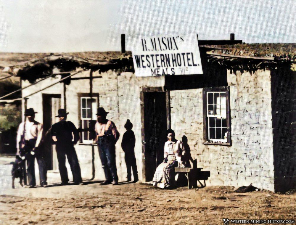 Hotel at Contention City, Arizona 1880s