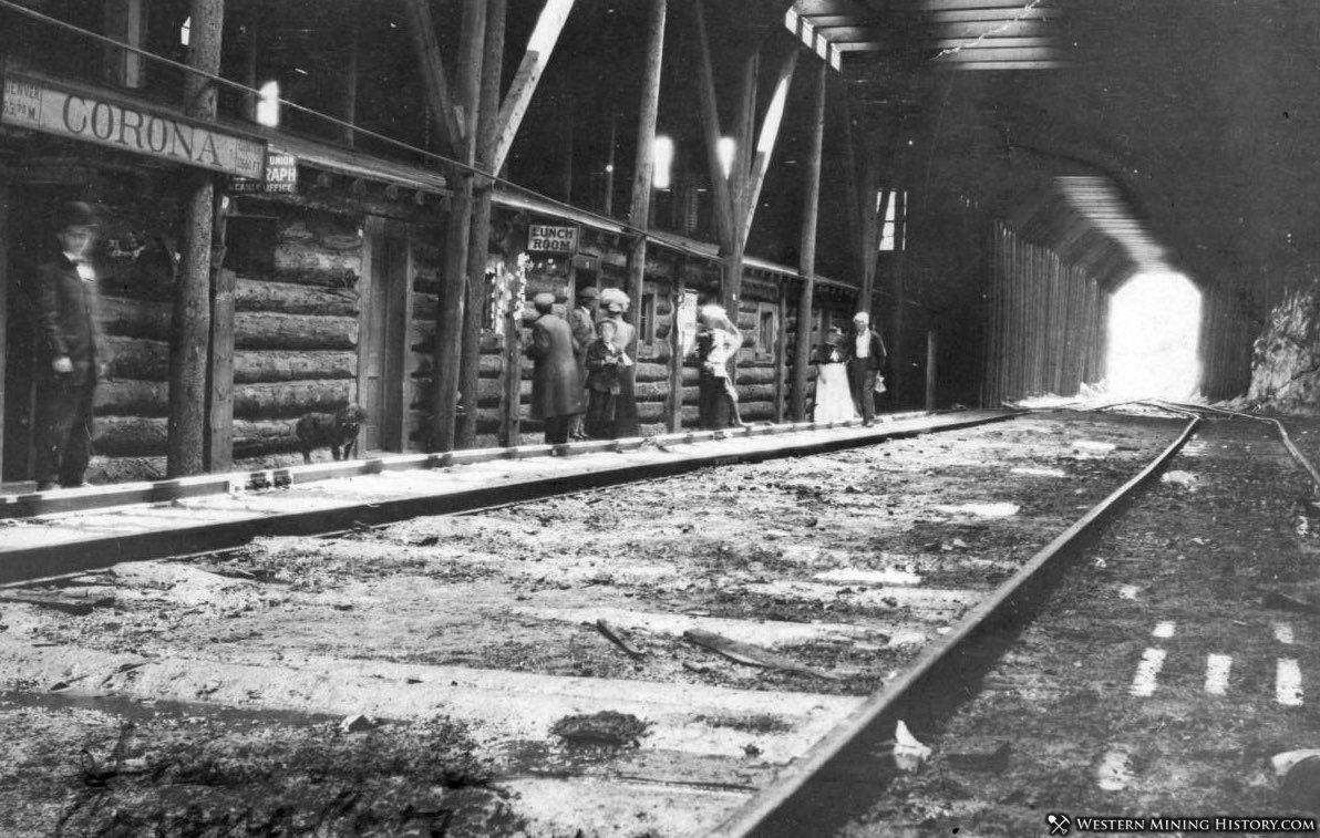 The railroad depot at Corona, Colorado ca. 1905