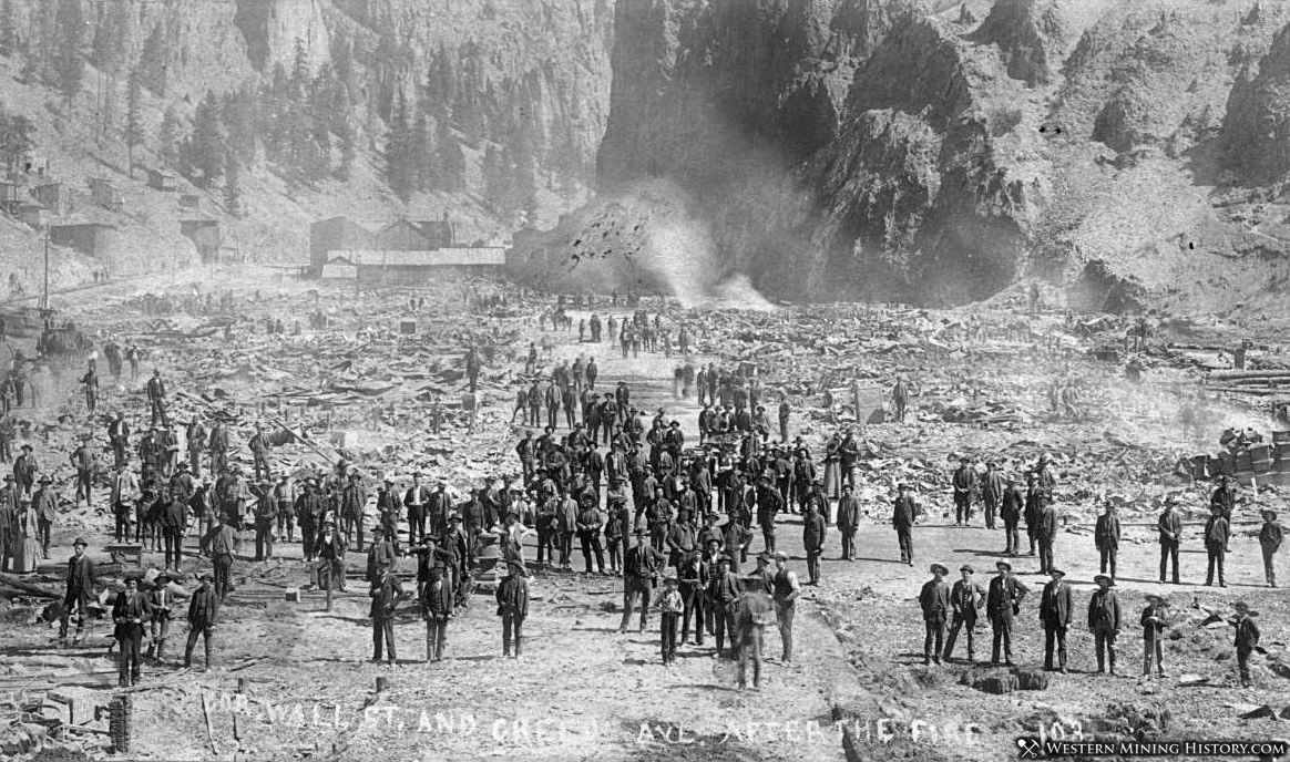 Creede after the June 1892 Fire