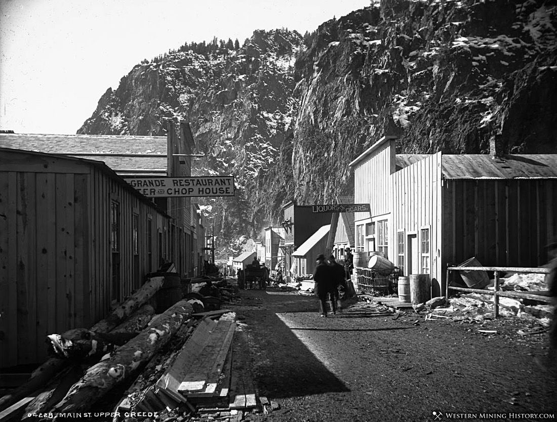 Main Street Upper Creede, Colorado ca. 1891