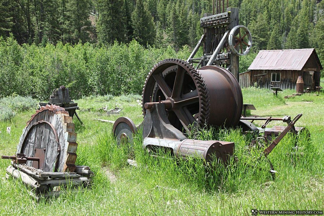 Mining machinery at Custer, Idaho