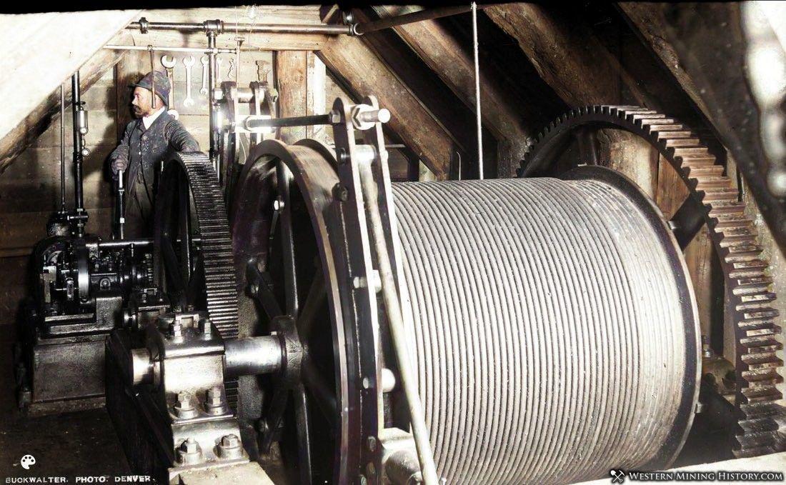Hoist of the Della S mine at Aspen Colorado 1893